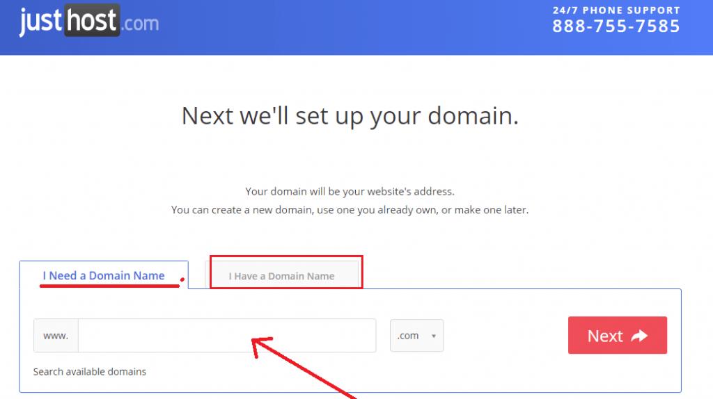 justhost domain reg