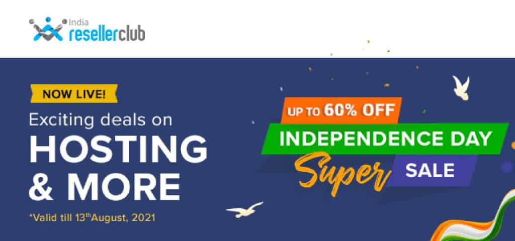 ResellerClub Independence Day Super Sale