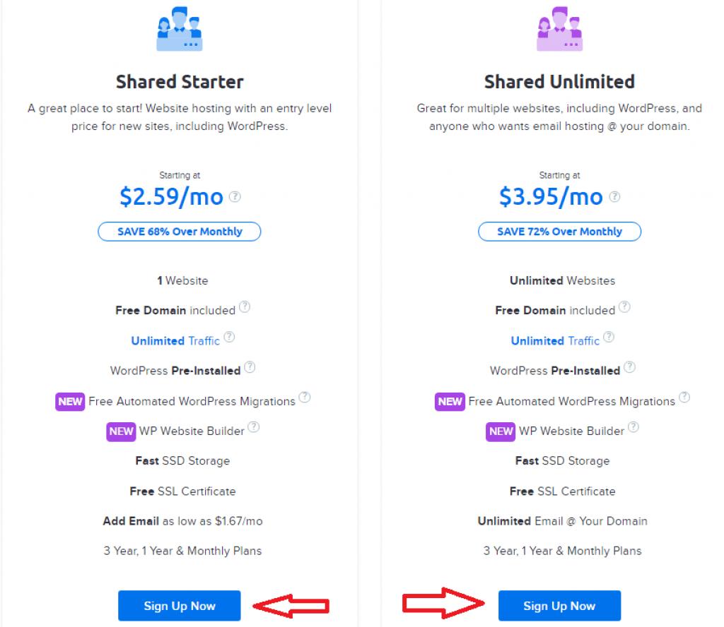dreamhost hosting plan