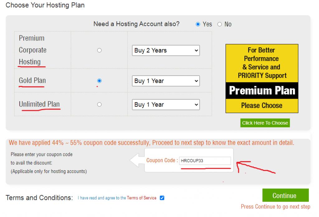 apply hostingraja coupon code