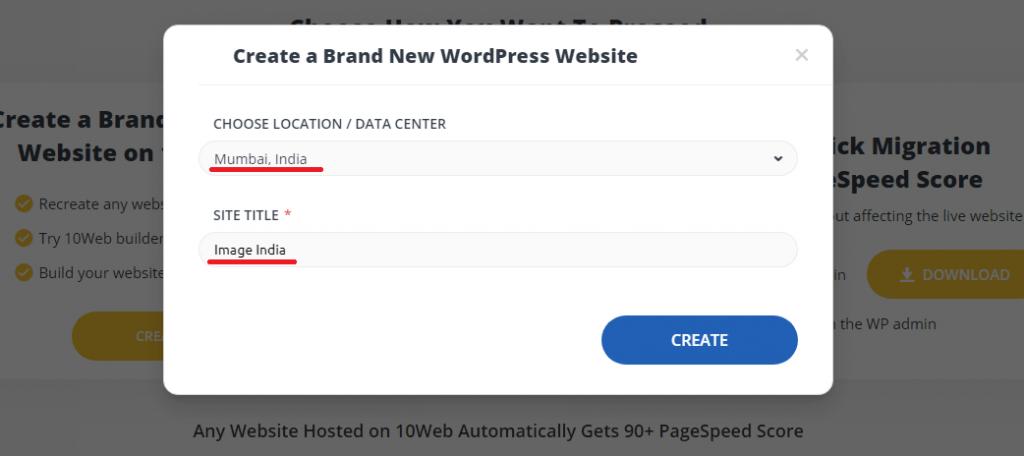 10web website creation