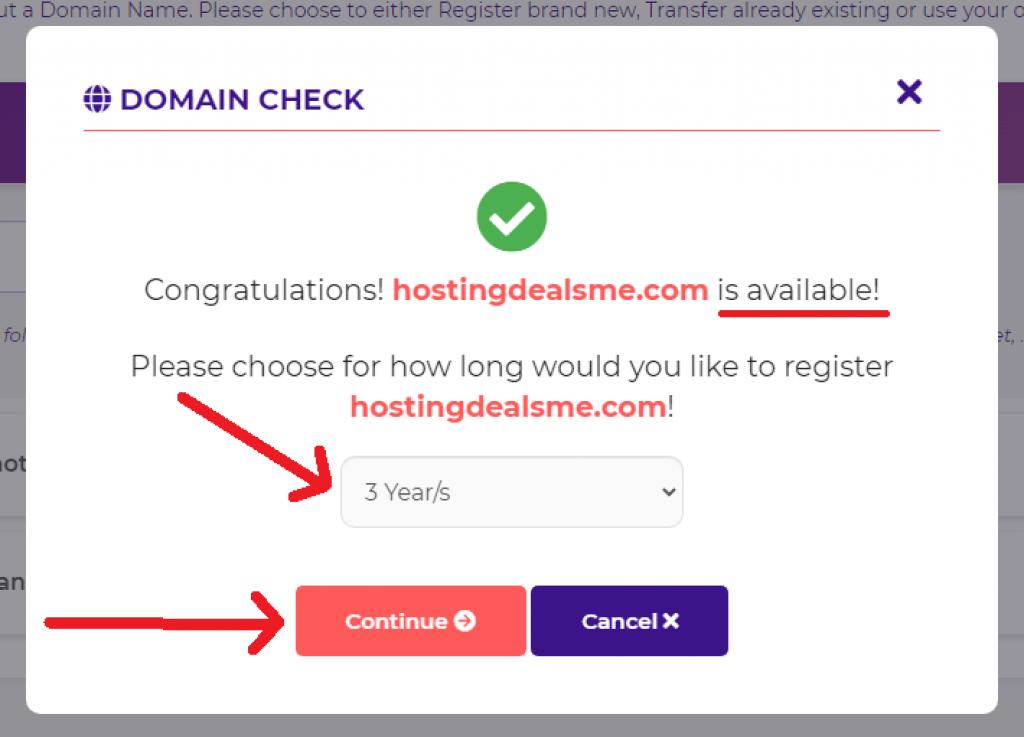 hostarmada domain billing period