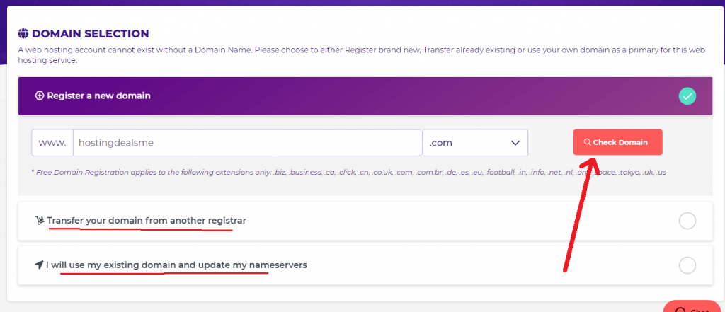 hostarmada register free domain