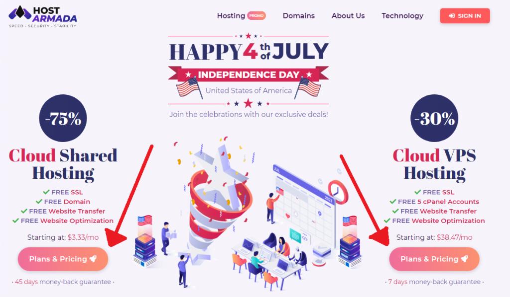 hostarmada website
