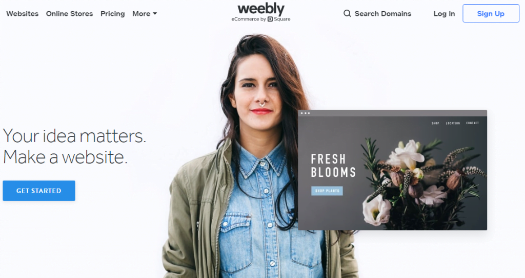 start weebly today